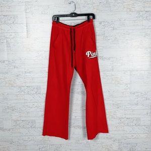 VS PINK red boyfriend sweatpants wide leg